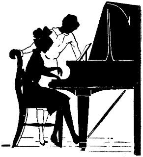 Clase de piano en lared.