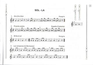 Canciones flauta. Deinternet