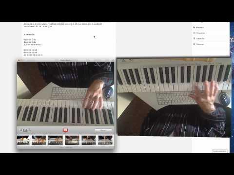 Notas en el piano: la cucaracha. Aprender convideos.