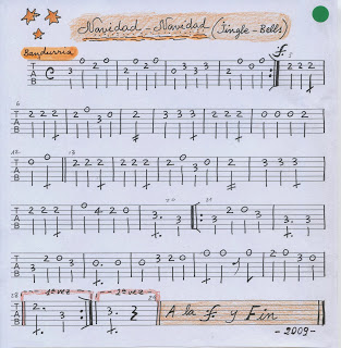 Navidad Navidad. Partitura: guitarra, laúd ymúsica.