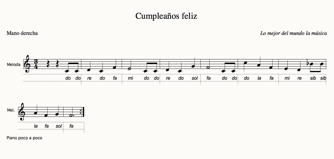 nota scumpleaños
