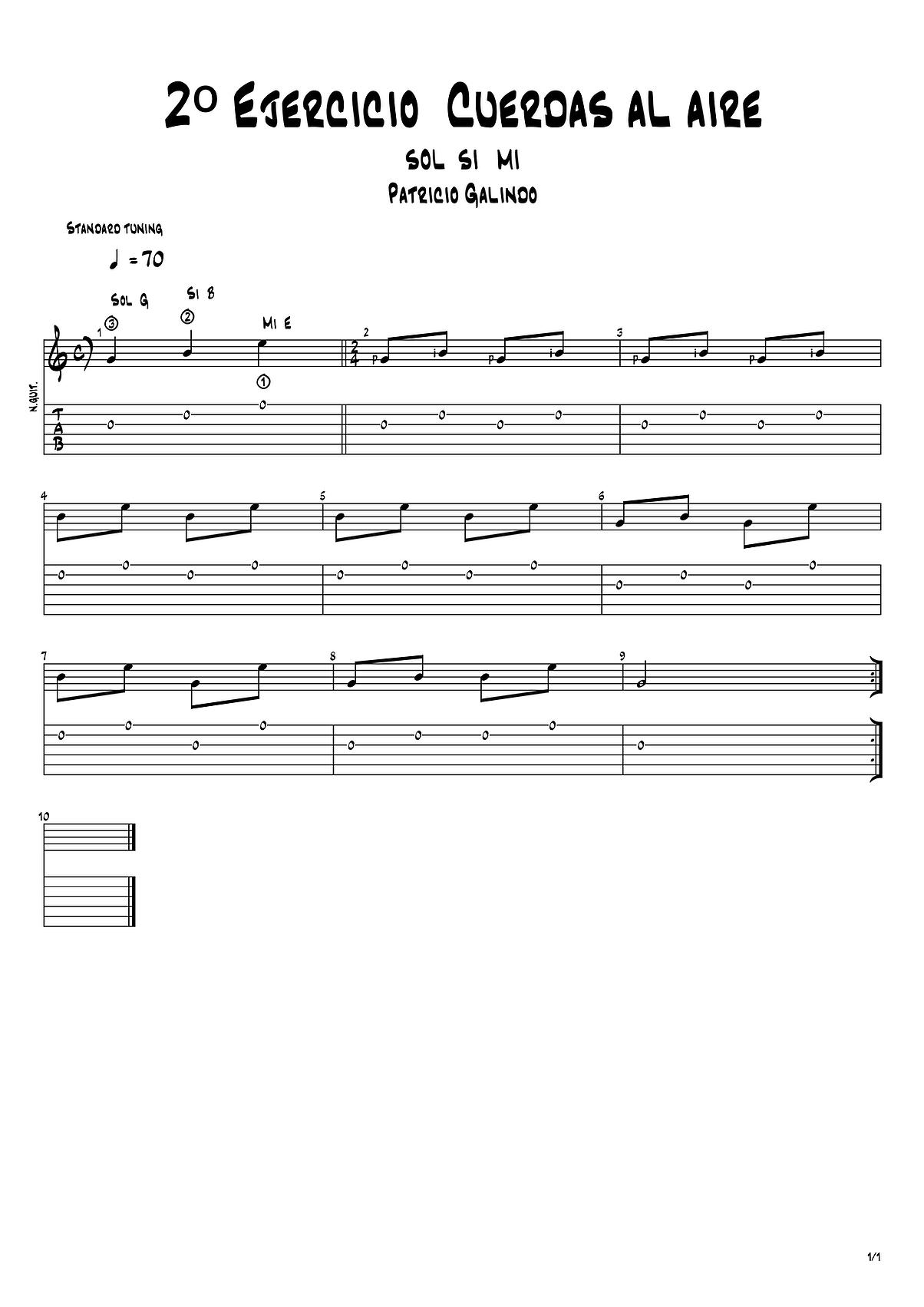 ekercicio 2 guitarra