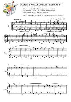 Ejercicio 1 Czerny todo opus139 - Partitura completa