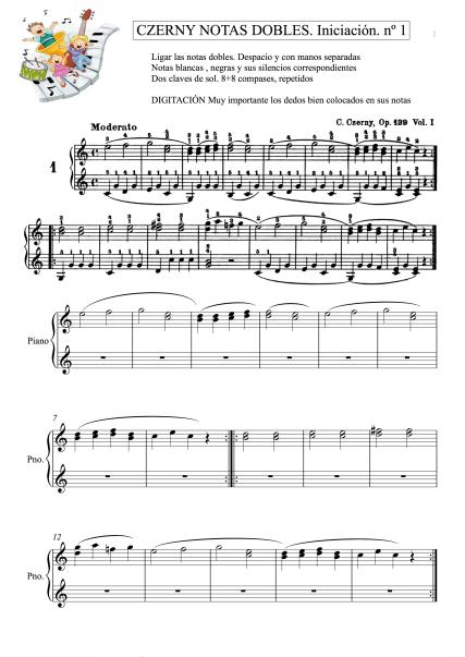 Ejercicio 1 Czerny opus139 mano derecha